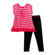 Youngland® 2-pc. Top and Leggings Set - Toddler Girls 2t-4t