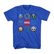Marvel® Short-Sleeve Cute Avengers Tee