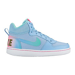 Nike Court Borough Girls Basketball Shoes - Big Kids