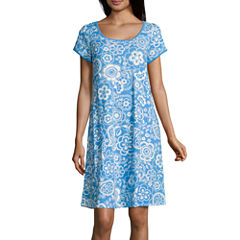 By Miss Elaine Short Sleeve Nightgown