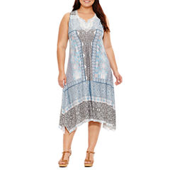 Unity World Wear Sleeveless Beaded Maxi Dress-Plus
