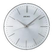 Seiko® Wall Clock With Aluminum Dial Silver ToneQxa630alh