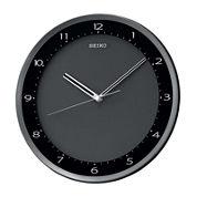 Seiko® Wall Clock With Black Metallic Case Qxa393jlh