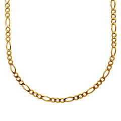 Mens 18K Yellow Gold Over Silver 24