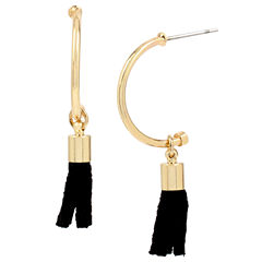 Bleu™ Gold-Tone Half Hoop & Tassel Earring Jackets
