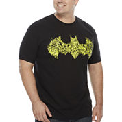 The Foundry Supply Co.™ Short-Sleeve Batman Logo Cotton Tee - Big & Tall