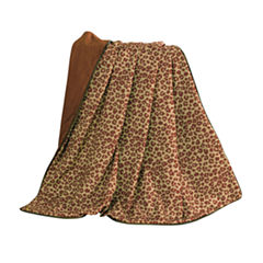 HiEnd Accent Austin Cheetah Throw with Fringe