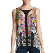 Bisou Bisou® Sleeveless Keyhole Cage Top