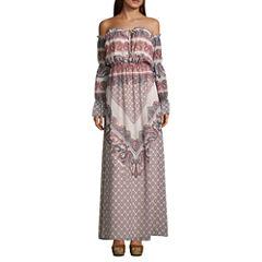 As U Wish Long Sleeve Maxi Dress-Juniors