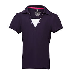 U.S. Polo Assn. Short Sleeve Solid Polo Shirt - Big Kid Girls
