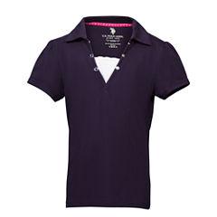 U.S. Polo Assn. Short Sleeve Solid Polo Shirt - Preschool Girls