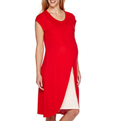 Maternity Cross-Over Cotton Nursing Dress