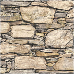 NuWallpaper Hadrian Stone Wall Peel and Stick Wallpaper