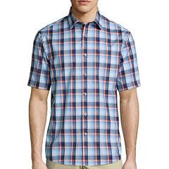 Claiborne® Short-Sleeve Button-Front Shirt