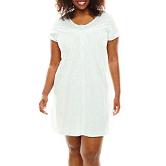 Earth Angels® Short-Sleeve Nightgown - Plus