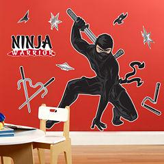 Ninja Warrior Party Giant Wall Decals
