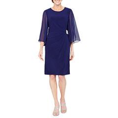 MSK 3/4 Sleeve Sheath Dress