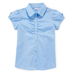 IZOD® Button-Woven Top - Girls 7-18 and Plus