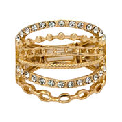 The Boutique Gold-Tone 6-Row Stretch Ring