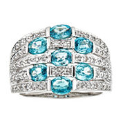 LIMITED QUANTITIES Genuine Blue Zircon Sterling Silver Ring