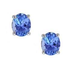 LIMITED QUANTITIES Genuine Tanzanite Sterling Silver Stud Earrings
