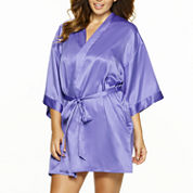 Jezebel Gem 3/4 Sleeve Satin Robe-Plus
