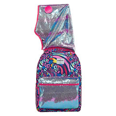 Rainbow Animal Print Hooded Backpack