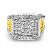 Mens 1 CT. T.W. Diamond 10K Two-Tone Gold Ring