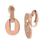 Worthington® Rose-Tone Link Clip-On Earrings