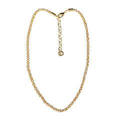 Gloria Vanderbilt® Gold-Tone Crystal Mesh Chain Necklace