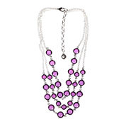 Gloria Vanderbilt® Purple Frontal Silver-Tone Necklace