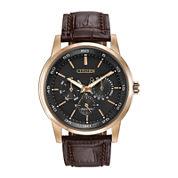 Citizen® Eco-Drive® Mens Brown Leather Strap Watch BU2013-08E
