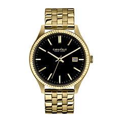 Caravelle New York® Mens Gold-Tone Bracelet Watch 44B105