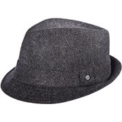 Stetson® Wool-Blend Checked Fedora