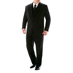 Stafford® 100% Wool Super 100 Black Stripe Suit Separates - Big & Tall