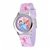 Disney Princess Kids Time Teacher Purple Fabric Strap Watch