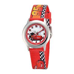 Disney Cars Kids Time Teacher Print Fabric Strap Watch