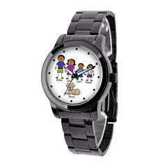 Unisex Black Bracelet Watch-41478-B