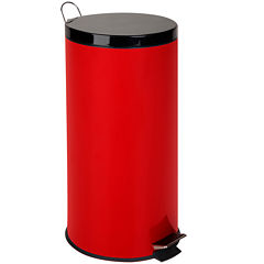 Honey-Can-Do® 30-Liter Round Step Trash Can