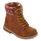 Okie Dokie® Bozzie Girl's Lace-Up Booties - Toddler