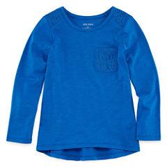 Okie Dokie Long Sleeve T-Shirt-Preschool Girls