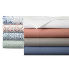 JCPenney Home™ 300tc Cotton Percale Solid or Print Sheet Sets