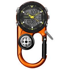 Dakota Men's Orange Ana Digi Angler II Carabiner Clip Watch 37270