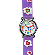 Dakota Fusion Kids Purple Hearts and Clouds Watch 49080