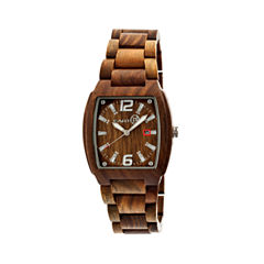 Earth Wood Sagano Olive Bracelet Watch with Date ETHEW2404