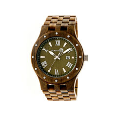 Earth Wood Inyo Olive Bracelet Watch with Date ETHEW3204