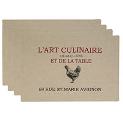 Metro Farmhouse By Park B. Smith® L'Art Culinaire Set of 4 Placemats