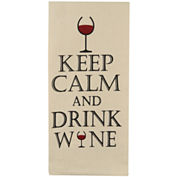 Park B. Smith® Keep Calm, Drink Wine Set Of 2 Kitchen Towels