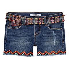 Vgold Midi Shorts-Big Kid Girls