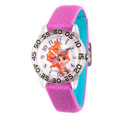 Disney Girls Palace Pets Purple Treasure Time Teacher Strap Watch W002840